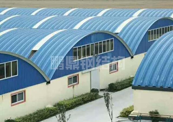 金属拱形波纹钢屋盖