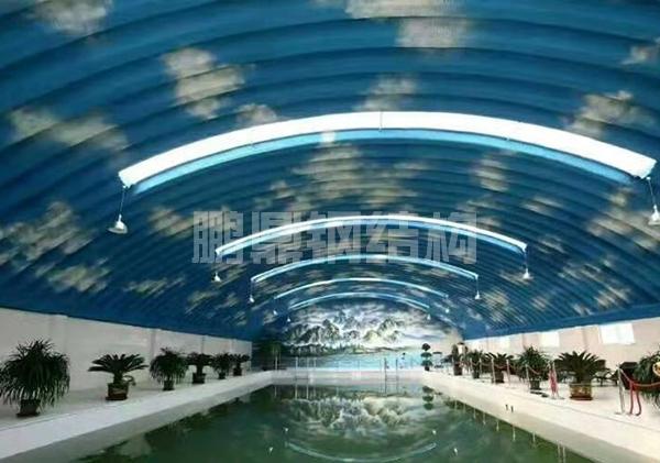 游泳馆波纹钢屋盖