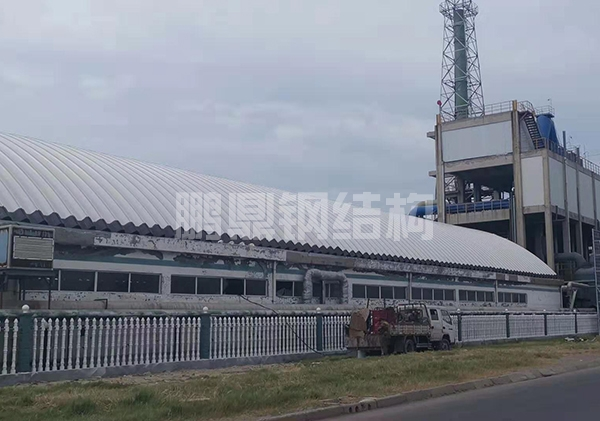 化工厂27米跨度彩钢拱形屋顶