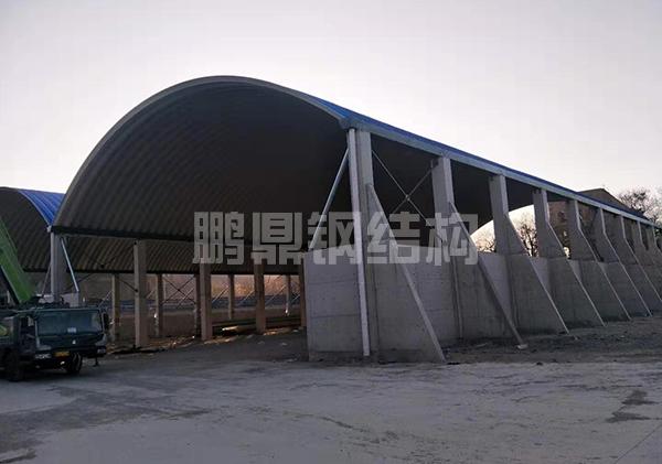 搅拌站拱形料棚屋顶