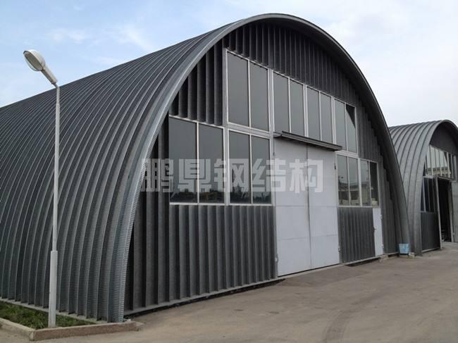 拱形波纹钢屋盖